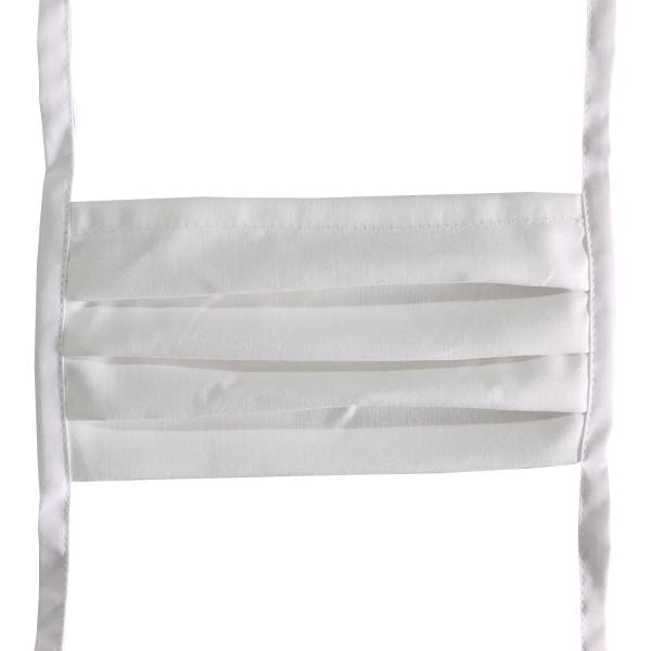 Mund-Nasen-Maske zum Binden waschbar 95°C weiß