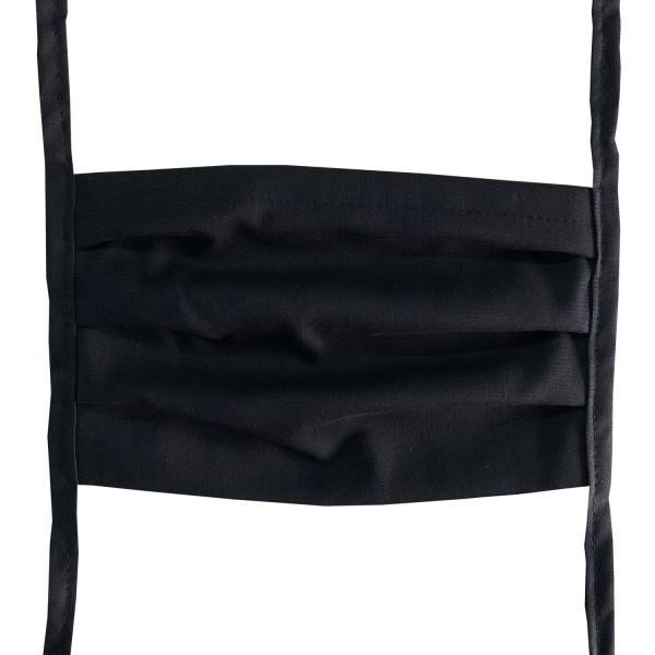 Mund-Nasen-Maske zum Binden waschbar 95°C schwarz